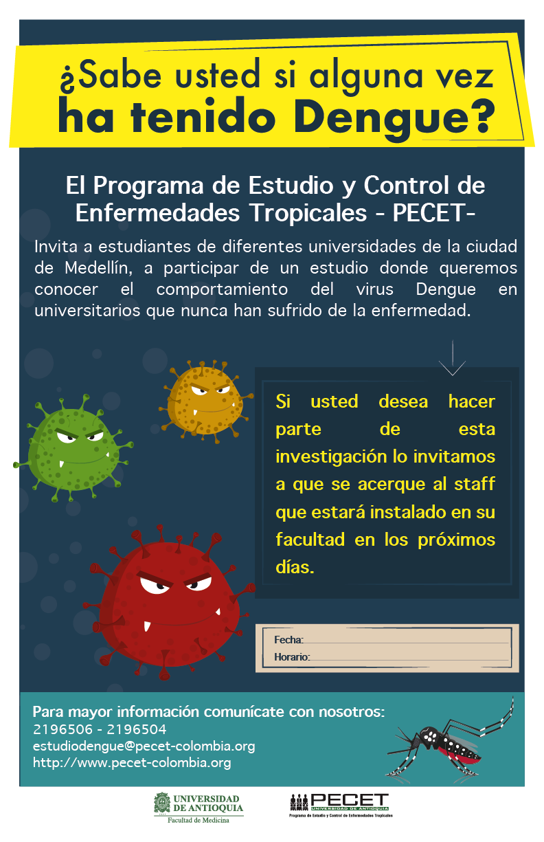 Estudio prevalencia de dengue en estudiantes universitarios